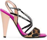 No.21 multi-strap leopard print sandals