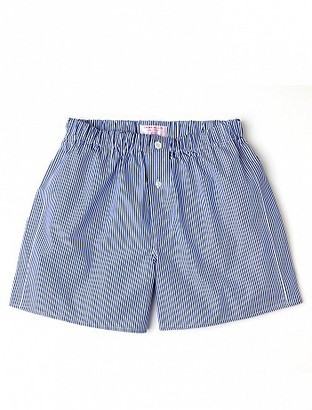 Emma Willis Navy Bengal Stripe - Patchwork Boxer Shorts