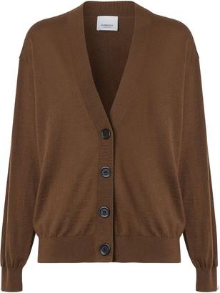 Burberry Vintage Check Detail Merino Wool Cardigan