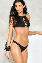 Nasty Gal I Need Space Lace-Up Bikini Set