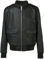 Wesc front pocket leather jacket - men - Leather/Polyester - S