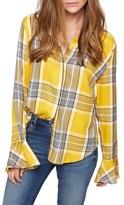 Sanctuary Women's Nightscape Plaid Ruffle Cuff Shirt