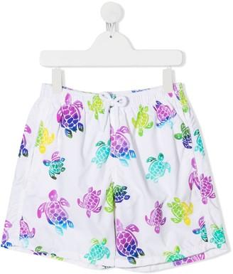 Vilebrequin Kids TEEN turtle print swim shorts