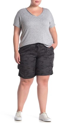 SUPPLIES BY UNION BAY Betsey Comfort Waist Camo Print Twill Shorts