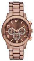 Merona Women's Boyfriend Bracelet Watch with Subdial Glitz Brown