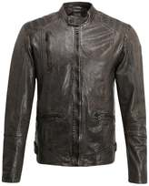 Gipsy Raol Leather Jacket Oliv
