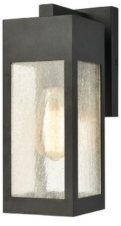 "Three Posts Haddan 1 - Light Dimmable Charcoal Outdoor Sconce Size: 13"" H x 4.75"" W x 7"" D"