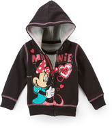 Children's Apparel Network Black Minnie Mouse Hoodie & Gray Tee - Infant