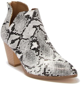 Matisse Polly Reptile Embossed Cutout Bootie