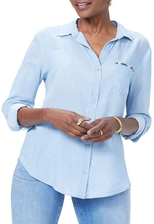 NYDJ Classic Embroidered Shirt