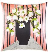 Kate Spade Folk Art Striped Flower Vase Square Pillow