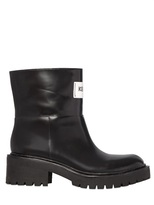 Kenzo 50mm Brushed Leather Boots