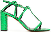 Jean-Michel Cazabat snakeskin effect sandals - women - Calf Leather/Leather - 36