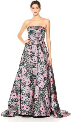 Mac Duggal Macduggal Women's Crayon Floral Print Gown