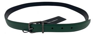 Dolce & Gabbana Green Leather Belts