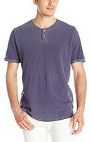 Velvet by Graham & Spencer Men's Kayden Short Sleeve Henley In Light Weight Terry