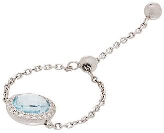 Anissa Kermiche 14K white gold topaz chain ring