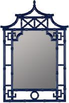 One Kings Lane Chinoiserie Bamboo Mirror, Cobalt