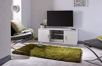 Home Source Lima High Gloss TV Unit - White