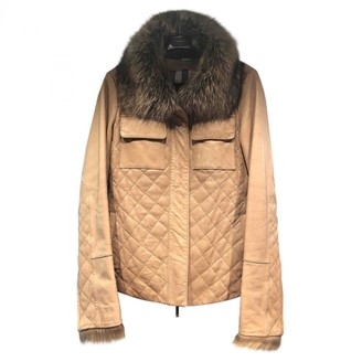 Burberry Brown Fur Jacket for Women