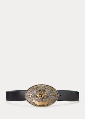 Ralph Lauren Rodeo Buckle Leather Belt