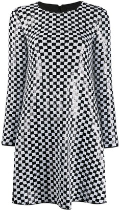 Emporio Armani Sequin Embellished Flared Dress