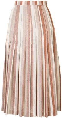 Jil Sander Two-Toned Pleated Skirt
