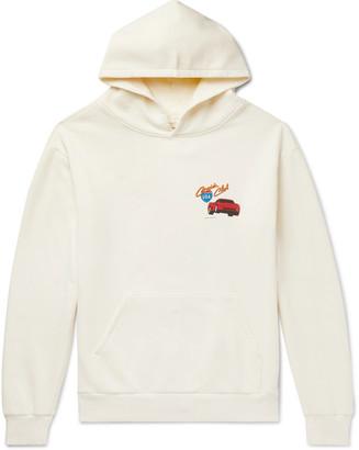 Pasadena Leisure Club Printed Fleece-Back Cotton-Jersey Hoodie