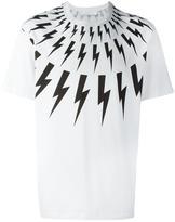 Neil Barrett lightning bolt T-shirt - men - Cotton - M
