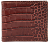 DeSanto Croc Embossed Leather Bifold Wallet
