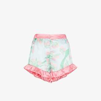 Helmstedt Strawberry Print Silk Pyjama Shorts