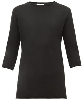 Raey Half Sleeve Cotton Jersey T Shirt - Womens - Black