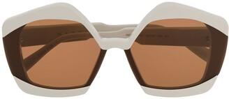 Marni Eyewear Oversized Frame Sunglasses