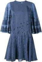 Valentino Swallow Metamorphosis mini dress - women - Silk/Spandex/Elastane - 38