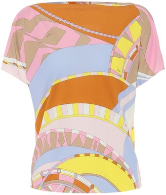 Emilio Pucci Printed jersey top