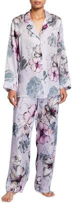 Christine Lingerie Steel Magnolias Silk Pajama Set