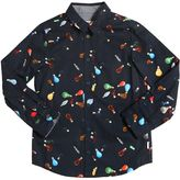 Paul Smith Light Bulbs Printed Cotton Poplin Shirt