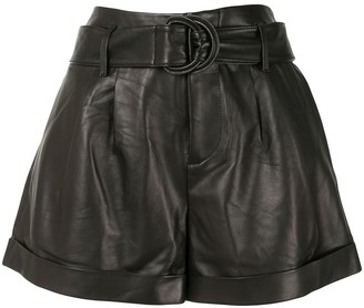 Frame High-Rise Belted Shorts