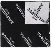 Balenciaga monogram logo scarf