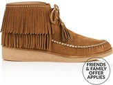 UGG Caleb Fringed Moccasin Ankle Boots