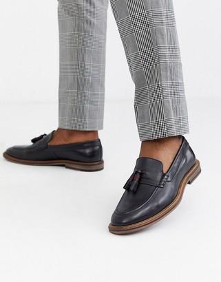 Walk London west tassel loafers in black
