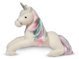 Douglas Rainbow Princess Unicorn Plush Toy, Large