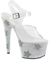 Pleaser USA Women's Adore 708STAR Ankle-Strap Platform Sandal
