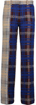 Acne Studios Maya checked wool-blend wide-leg pants