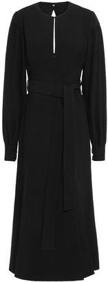 Proenza Schouler Cutout Pleated Textured-crepe Midi Dress