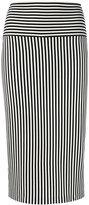 Norma Kamali striped pencil skirt - women - Polyester/Spandex/Elastane - S