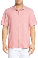 Tommy Bahama Men's 'Ocean' Standard Fit Oxford Silk Camp Shirt