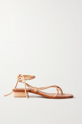 LOQ Ara Leather Sandals - Neutral