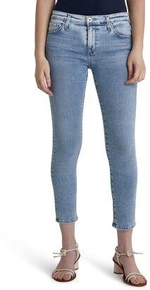 AG Jeans The Prima Mid Rise Crop Cigarette Jeans