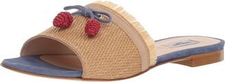 LK Bennett Women's Orla Slide Sandal MUL-Natural/Blue 38 Medium UK (7.5 US)